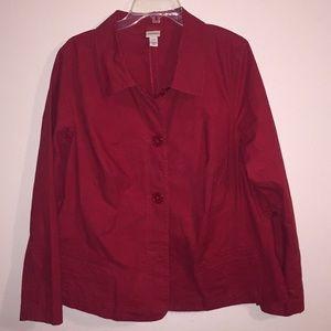 Venezia Cherry Red Blazer Plus Size 18/20